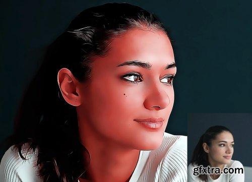CreativeMarket - Cartoon Portrait Photoshop Action 5099109