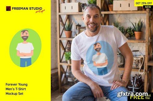 CreativeMarket - T-Shirt Mock-Up Bundle 4055483