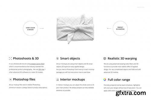 CreativeMarket - Furoshiki Fabric Wrap 2 Mockup Set 5324316