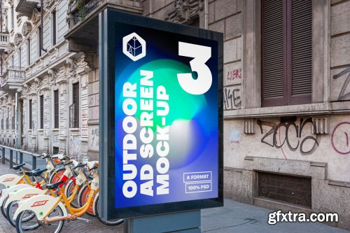 CreativeMarket - Outdoor Ad Screen MockUps Bundle 5 5456869
