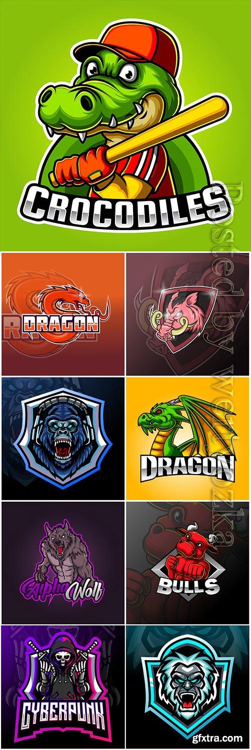 Mascot esport logo design premium vector vol 16