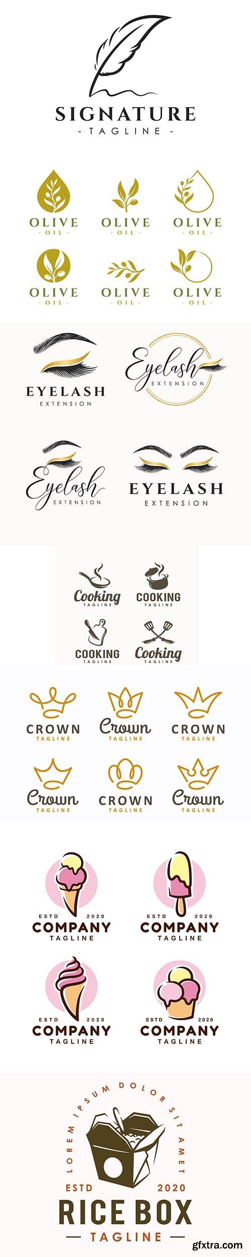 Logo design template set
