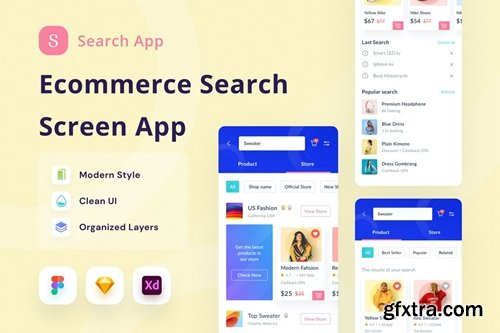 Ecommerce Search App Ui Kit