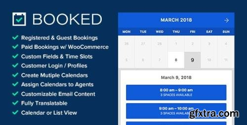 CodeCanyon - Booked v2.3 - Appointment Booking for WordPress - 9466968