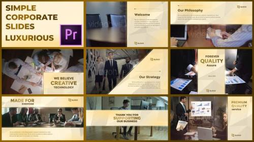 Videohive - Simple Corporate Slides Luxurious – Premiere Pro