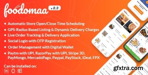 CodeCanyon - Foodomaa v2.3.1 - Multi-restaurant Food Ordering, Restaurant Management and Delivery Application - 24534953 - NULLED