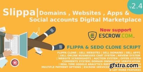 CodeCanyon - Slippa v2.5 - Domains,Website ,App & Social Media Marketplace PHP Script - 26578548 - NULLED