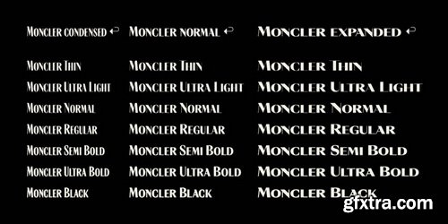 Moncler Font Family