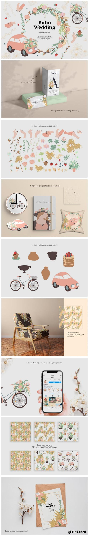 Elegant Boho Wedding Graphic Collection 6521660