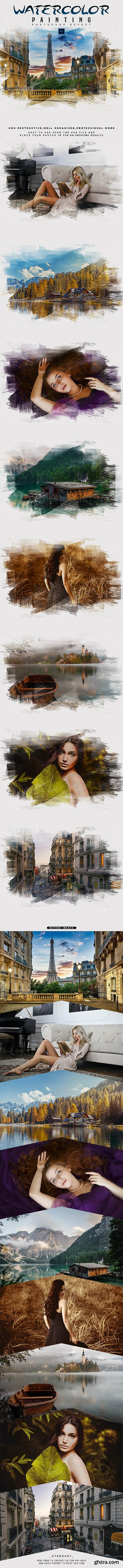 GraphicRiver - Watercolor Painting - Photoshop Effect 28936851