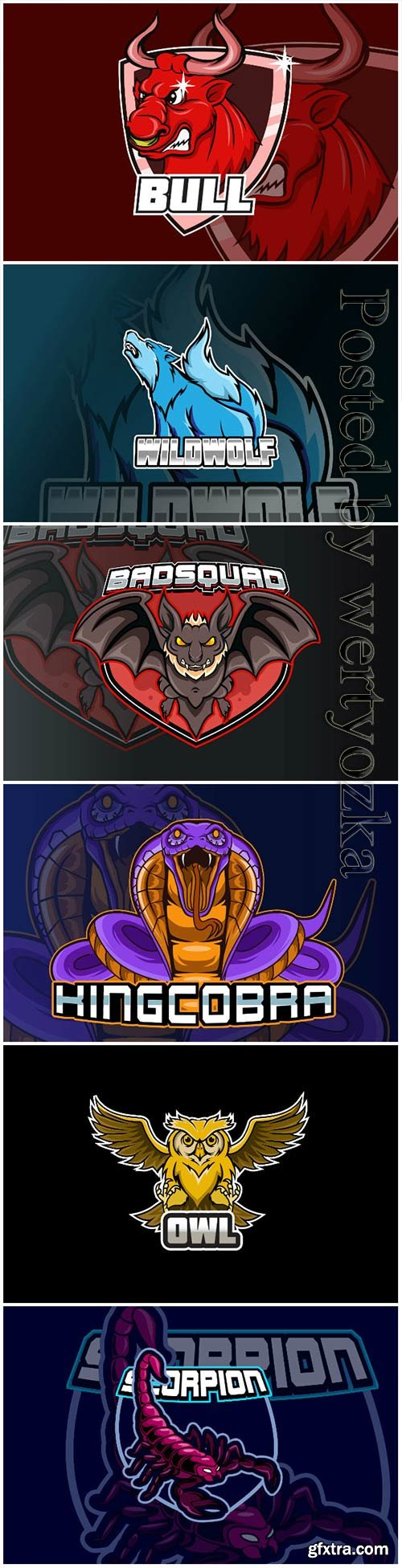 Mascot esport logo design premium vector vol 21