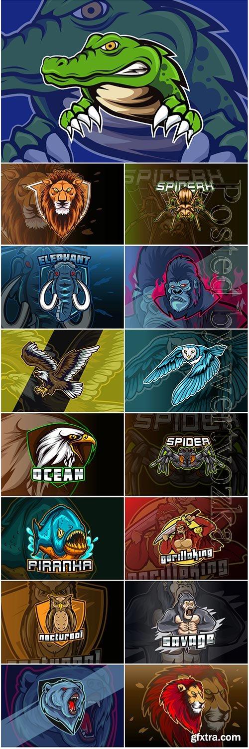 Mascot esport logo design premium vector vol 26