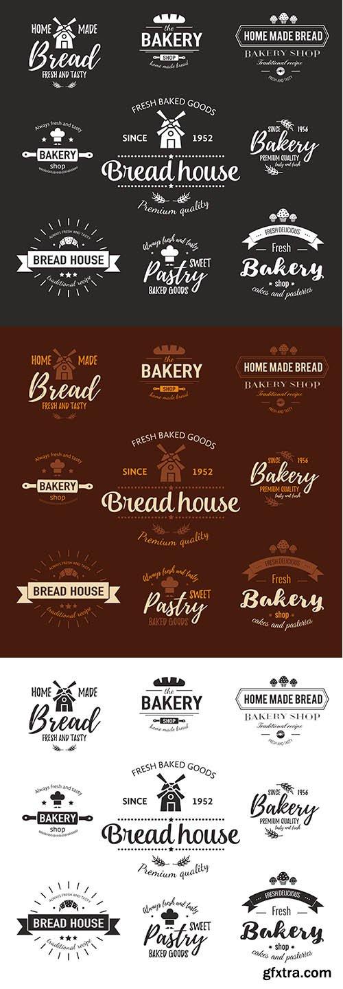Template of bakery logo fresh baked goods