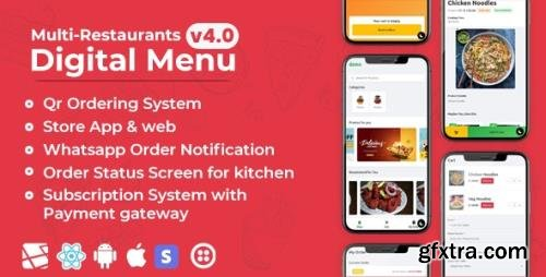 CodeCanyon - Chef v4.0 - Multi-restaurant Saas - Contact less Digital Menu Admin Panel with - React Native App - 27975356