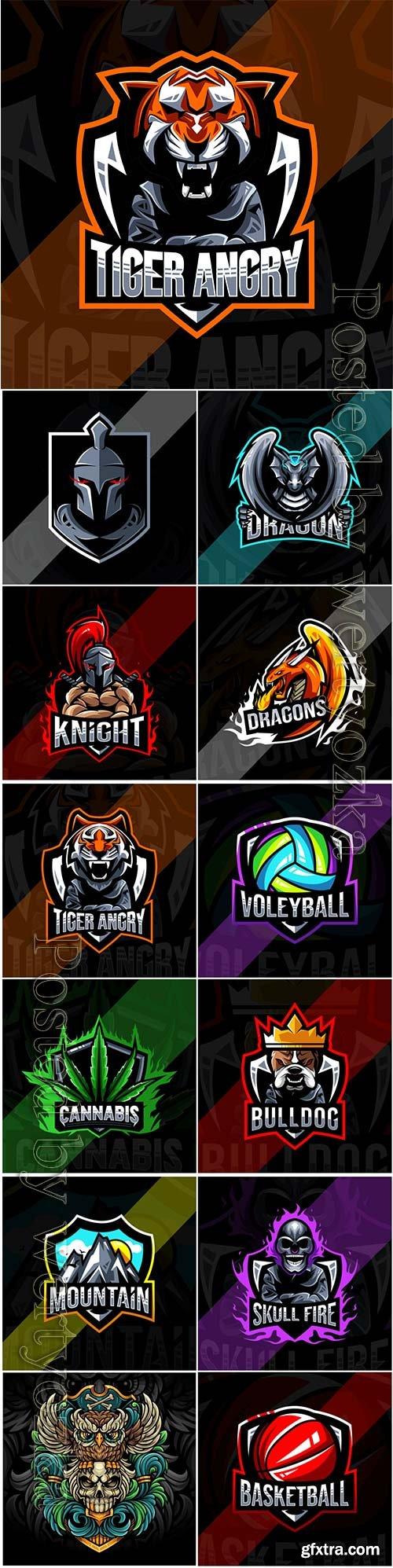 Mascot esport logo design premium vector vol 32