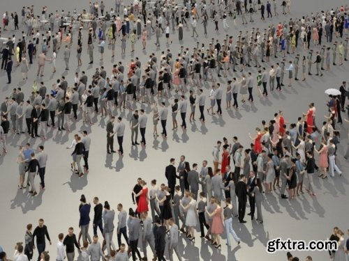 3D PEOPLE CROWDS- ULTIMATE SPEED SOLUTION VR / AR / low-poly 3d model