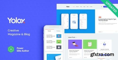 ThemeForest - Yolox v1.0.5 - Modern WordPress Blog Theme for Business & Startup - 23702588