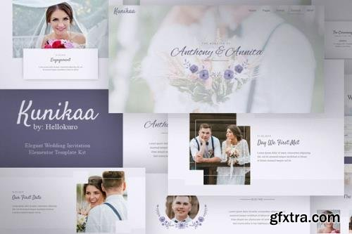 ThemeForest - Kunikaa v1.0.0 - Wedding Invitation Elementor Template Kit - 28980037