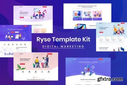 ThemeForest - Ryse v1.0.0 - SEO & Digital Marketing Elementor Template Kit - 29245553