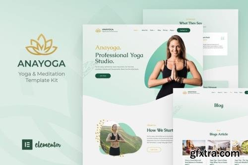 ThemeForest - Anayoga v1.0.0 - Yoga Teacher & Studio Elementor Template Kit - 29360654