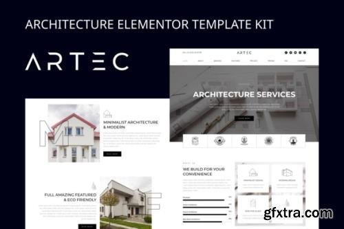 ThemeForest - Artec v1.0 - Architecture Elementor Template Kit - 29339442