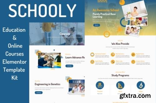 ThemeForest - Schooly v1.0 - Education Online Courses Elementor Template Kit - 29130577