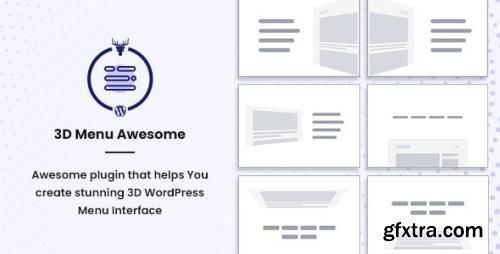 CodeCanyon - Stunning 3D Off Canvas Menu WordPress Plugin - 3D Menu Awesome v1.0.2 - 28878874