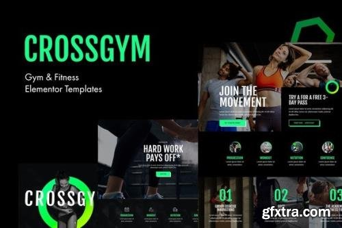 ThemeForest - CrossGym v1.0.3 - Gym & Fitness Elementor Template Kit - 26080662
