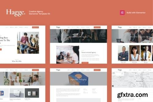 ThemeForest - Hagge v1.0 - Creative Portfolio Elementor Template Kit - 29176938