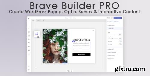 Brave Builder PRO v0.2.8 - WordPress Popup, Optin, Survey & Interactive Content - NULLED