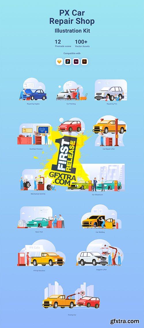 Car Repair Shop PX