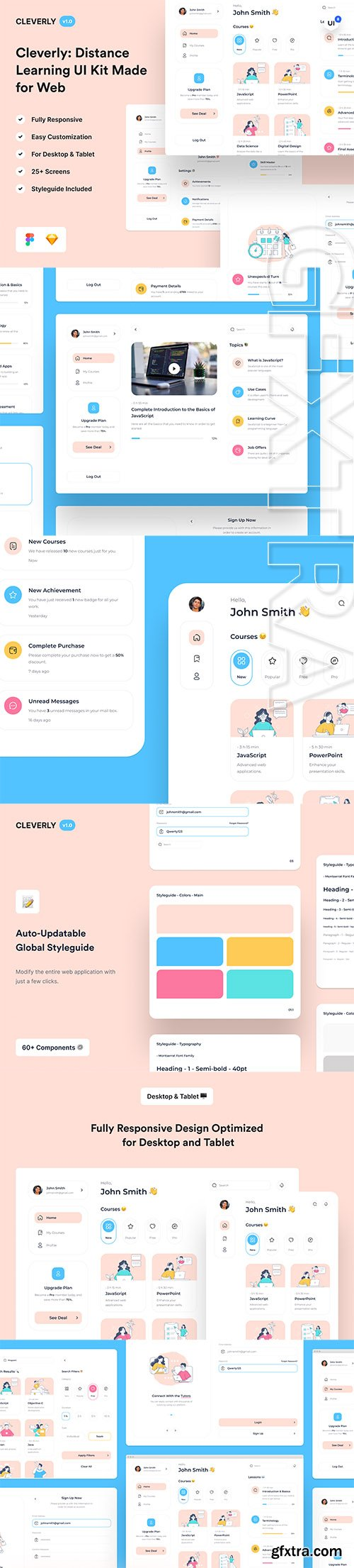 Cleverly: Distance Learning Web UI Kit