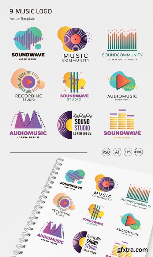 9 Music Logo Vector Templates