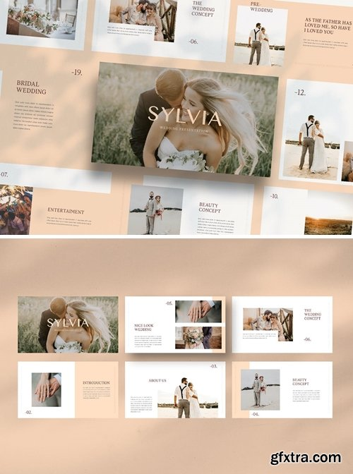 SYLVIA WEDDING Powerpoint, Keynote and Google Slides Templates