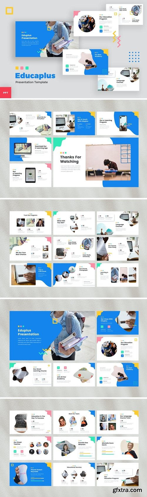 Education Powerpoint, Keynote and Google Slides Templates