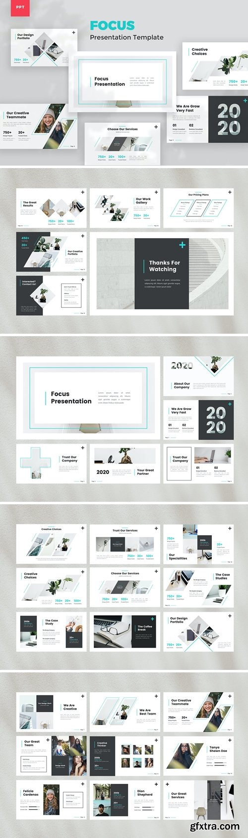 Creative Powerpoint, Keynote and Google Slides Templates