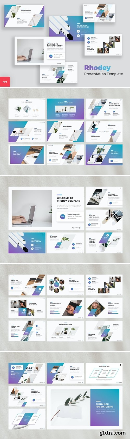 Creative Modern Powerpoint, Keynote and Google Slides Templates