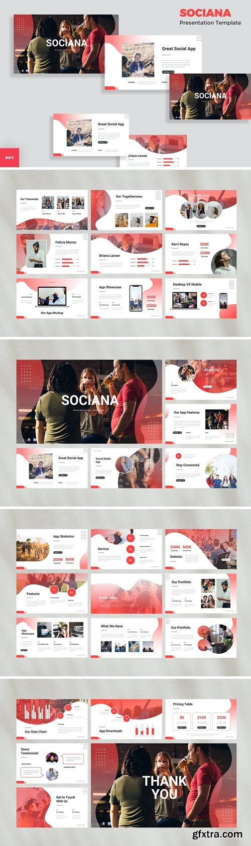 Social Media Powerpoint, Keynote and Google Slides Templates