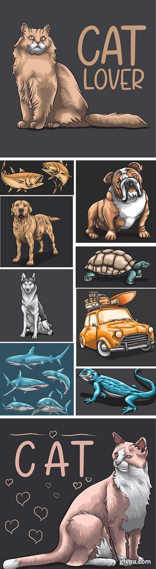 Animals concept cartoon design