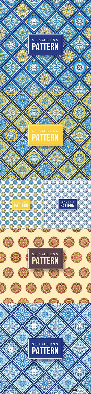 Seamless hand-drawn mandala pattern