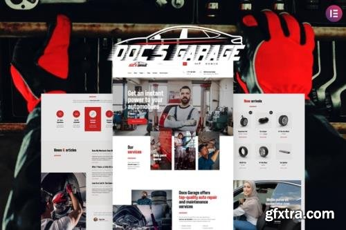 ThemeForest - Doc's Garage v1.0.0 - Car Repair Services Elementor Template kit - 29417967