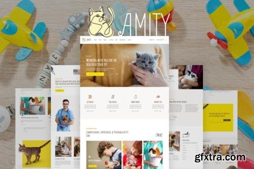 ThemeForest - Amity v1.0.0 - Animal Hospital & Veterinarian Template Kit - 29369376