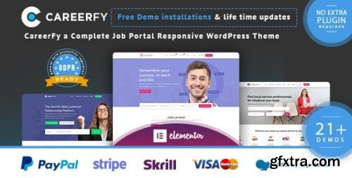 ThemeForest - Careerfy v4.8.0 - Job Board WordPress Theme - 21137053