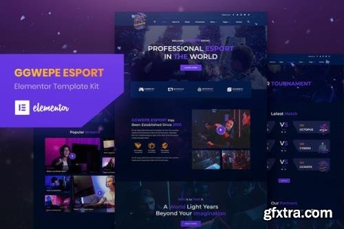 ThemeForest - GGWEPE v1.0.0 - Esports & Gaming Elementor Template Kit - 29430399