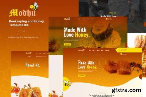 ThemeForest - Modhu v1.0.0 - Beekeeping & Honey Elementor Template Kit - 29384287