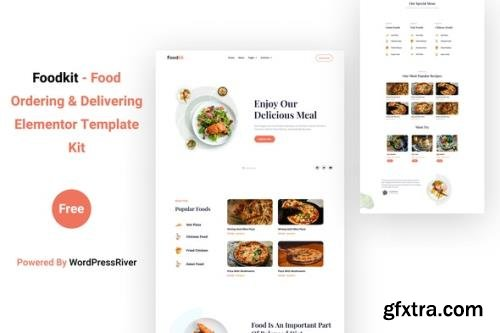 ThemeForest - Foodkit v1.0.0 - Food Ordering & Delivering Elementor Template Kit - 29435434