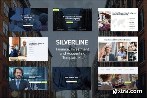 ThemeForest - Silverline v1.0.0 - Finance & Investment Elementor Template Kit - 29430477
