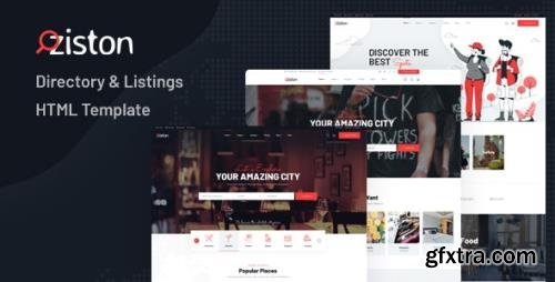 ThemeForest - Ziston v1.0 - Directory & Listings HTML Template - 28727364
