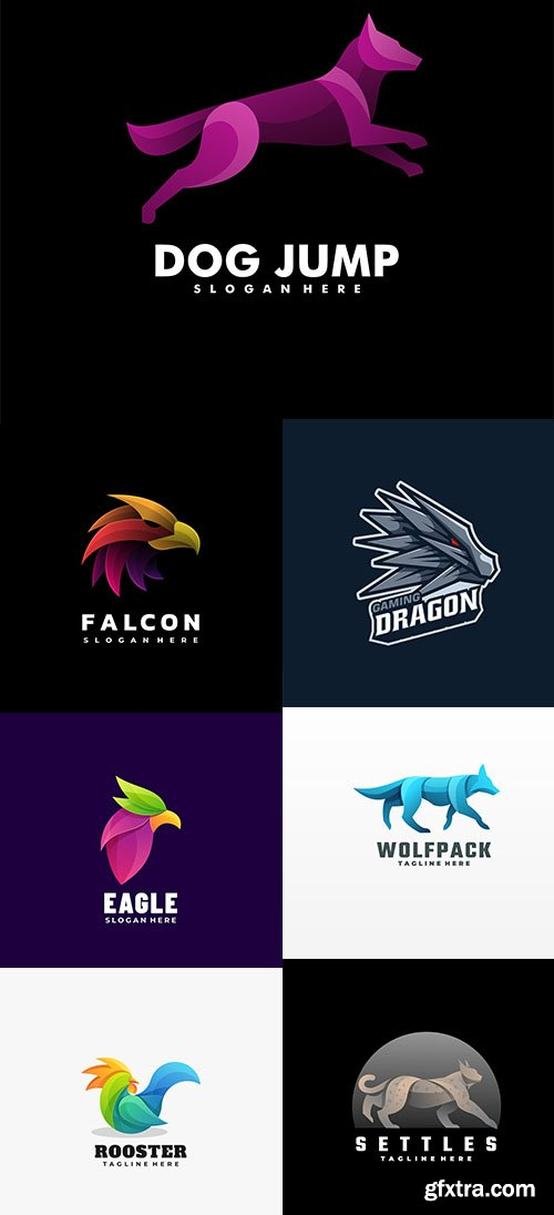 Logo illustration gradient colorful style