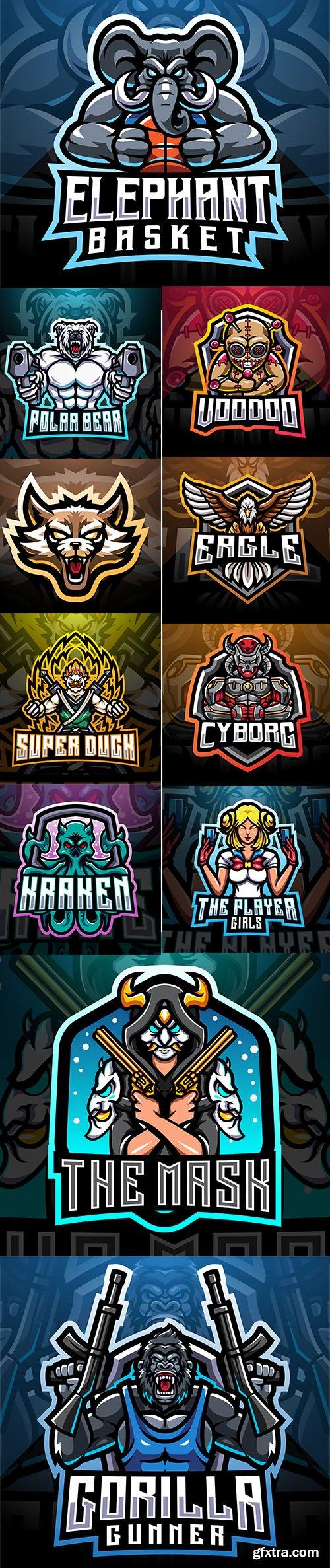 Esport mascot logo design